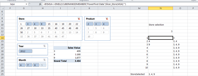 How To Get Selected Items In A Slicer Without Vba Erik