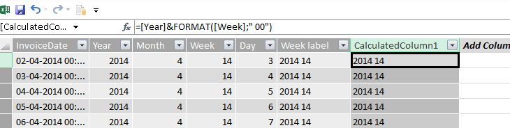 Format the week number in your Power Pivot date table – Erik