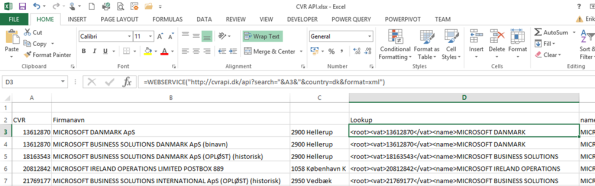 Clean your customer master data with Excel 2013 and Public data