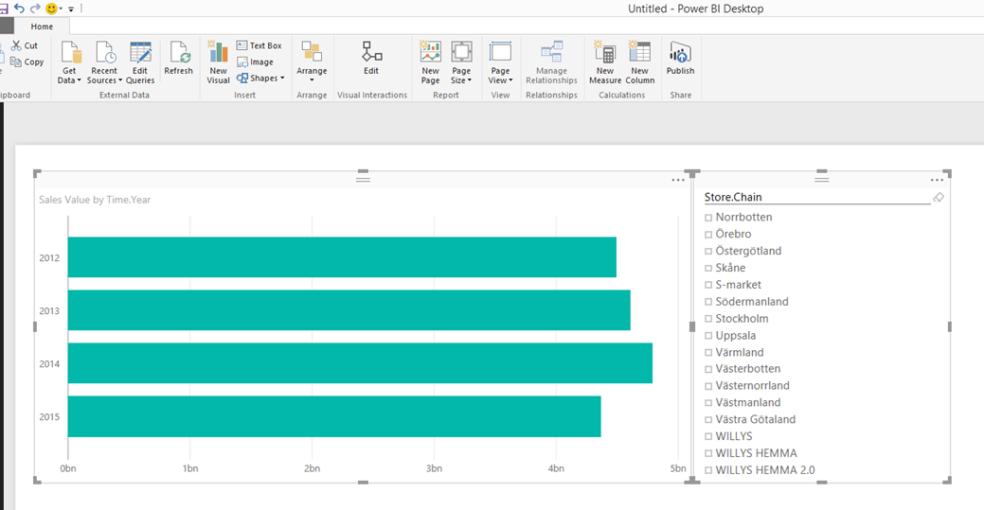 Aligning elements in the Power Bi Desktop Designer – Workaround