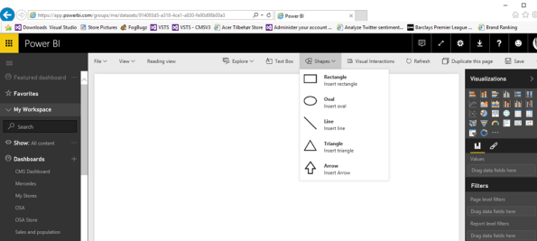 Inserting a picture/logo using the Power BI online designer #PowerBI