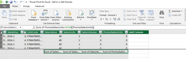 Tip – Create several AutoSum Measures in with one click #Excel Power Pivot – #powerbi