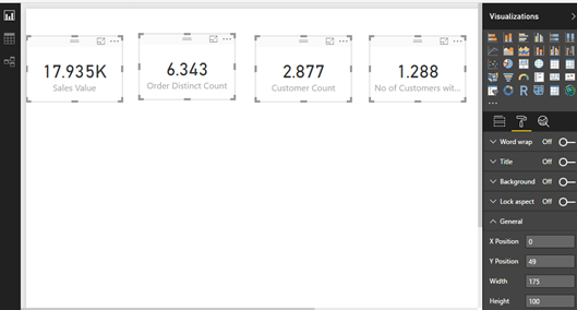 Set size for multiple visualizations in #PowerBI at the same time