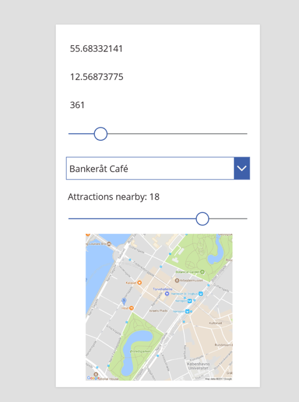 How to build a location aware #PowerApp – 'Guide book Copenhagen' – #opendatadk and #powerquery