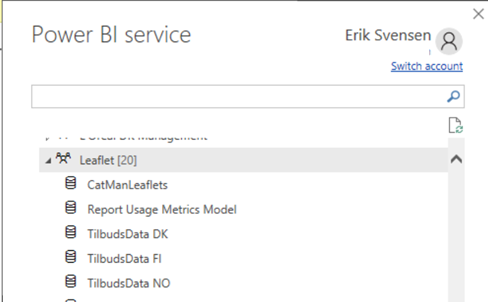 #powerbi – Switching a report from one PowerBI dataset to another PowerBI dataset