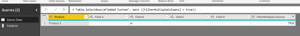 #PowerQuery – Filter by a dynamically set of columns