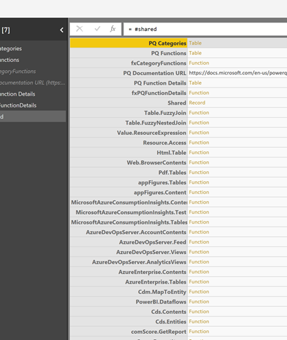 Creating a Power Query function browser – #powerbi – Erik