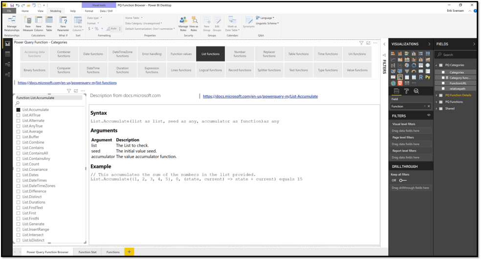 Creating a Power Query function browser – #powerbi – Erik Svensen