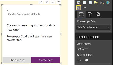 E-mail the selected record in #powerbi with #powerapps and