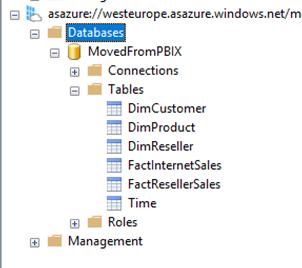 Move your pbix datamodel to Azure Analysis services – #powerbi