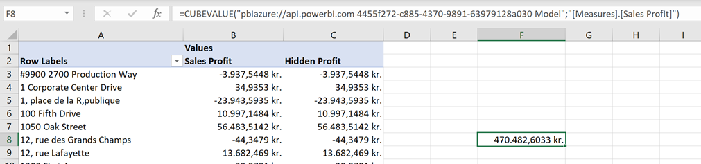 113020 2035 usehiddenme11 Use hidden measures and members from #PowerBI dataset in an Excel Pivot table