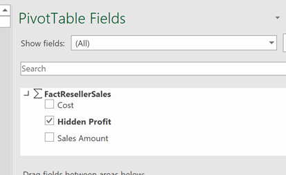 113020 2035 usehiddenme9 Use hidden measures and members from #PowerBI dataset in an Excel Pivot table